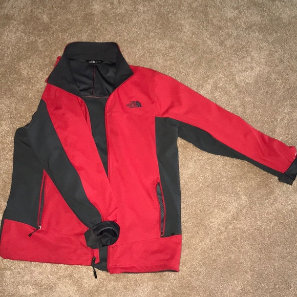 The North Face Other - Red/gray north face windbreaker and rain coat